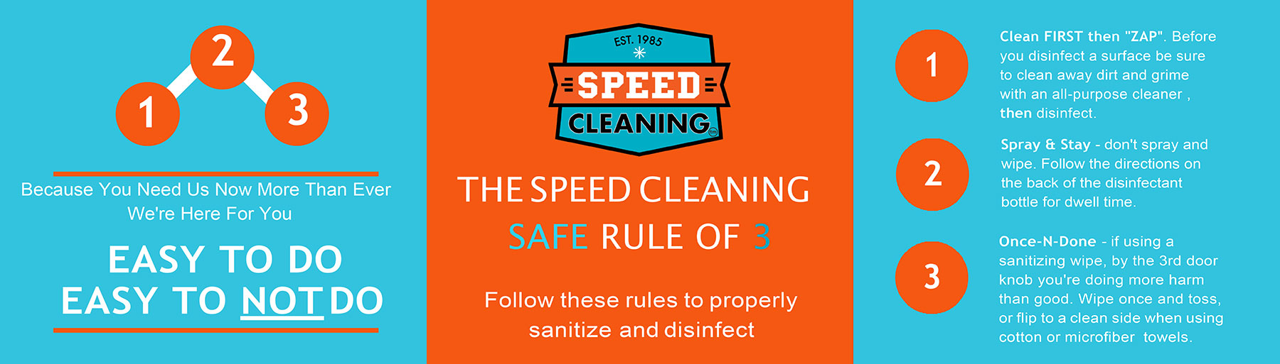 Speed Cleaning Safe Rule of 3